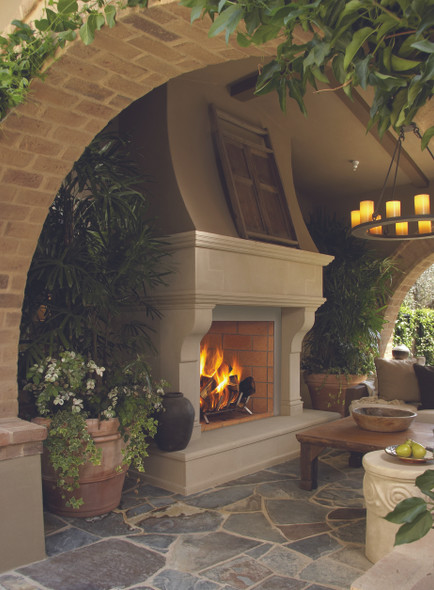"36"" Outdoor Wood Burning Masonry Fireplace (Interior sold separately) - WRE6036 - F4222"