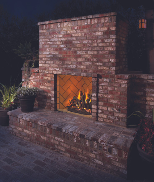 """36"""" Outdoor Vent Free Masonry Firebox (Interior sold separately) - VRE6036"""