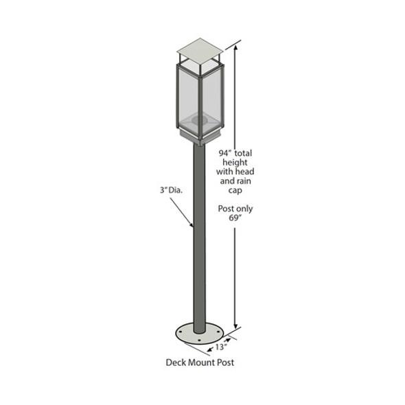 Tempest Torch, Black Posts, Deck - 94800812