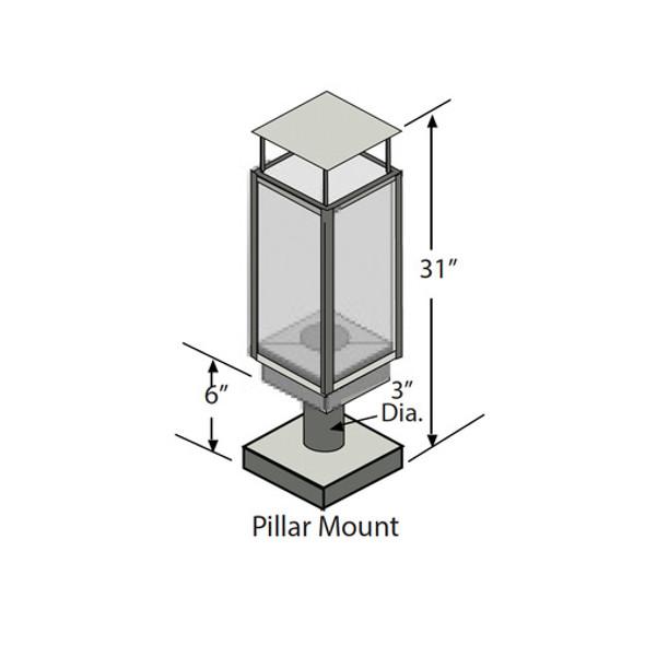 Tempest Torch, Pillar Mount, Black - 94800826