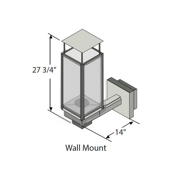 Tempest Torch, Wall Mount, Black - 94800825