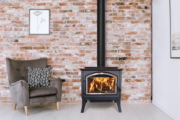 Gateway 2300 Wood Burning Stove, Freestanding Stove, Metallic Black - WB23FS