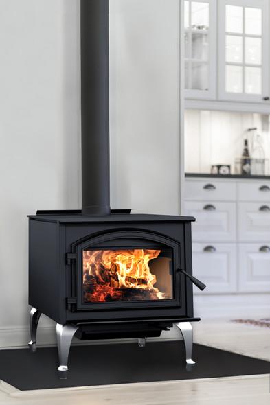 Gateway 3500 Wood Burning Stove, Freestanding Stove, Metallic Black - WB35FS