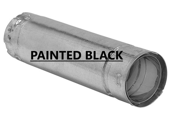 3-in. Premium Biomass Vent, 6-in. Straight Pipe - Black - 3B6B