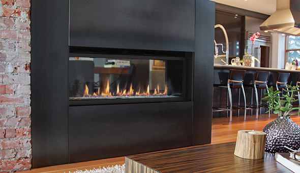 """60"""" Linear Direct Vent Fireplace, See Through Conversion Kit - STK-LIN60-B"""