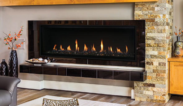 """60"""" Linear Direct Vent Fireplace, Electronic Ignition, Natural Gas - DRL4060TEN-B"""