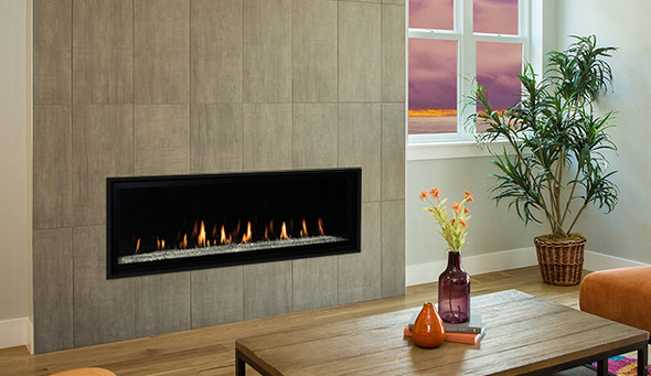 """60"""" Direct Vent Fireplace, Linear, Lights, Electronic Ignition, Natural Gas - DRL6060TEN-B"""
