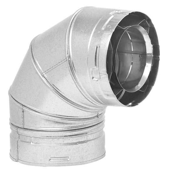 6DVL Direct Vent Lock System, 90 Degree Elbow - 6DVLE90