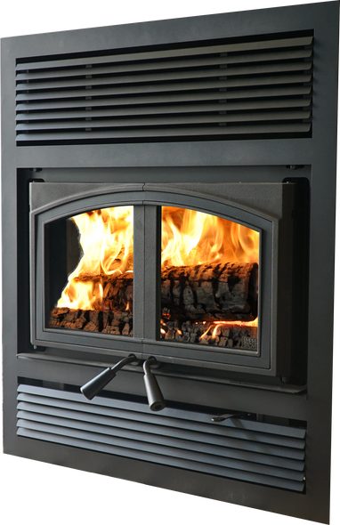 St. Clair 3000 Fireplace with Blower, 3.0 cu.ft., Metallic Black WB30FP