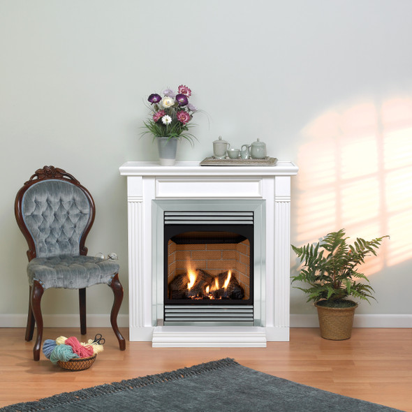 Vail Vent-Free Fireplace with Slope Glaze Burner, Premium 24 Intermittent Pilot with On/Off Switch VFP24FP70L