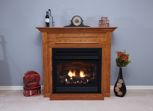 Vail Vent-Free Fireplace with Slope Glaze Burner, Premium 32 Intermittent Pilot with On/Off Switch