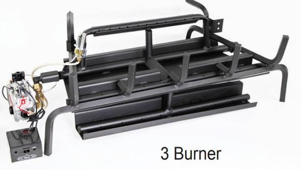 """18"""" Assembled 3 burner natural gas with millivolt and remote system 3BRN-18-NG-MVK-GCRK"""