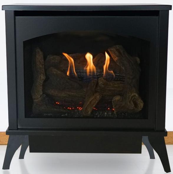 Spirit Stove Steel Vent-Free, Medium IP, Contour Burner, Log Set, NG VFD30MS70FN