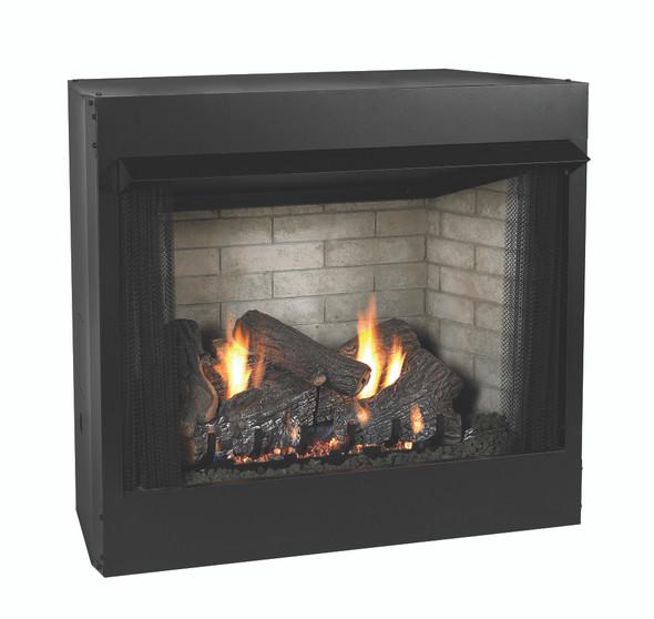 Breckenridge Deluxe Firebox with Refractory Liner and Sassafrass Log Set