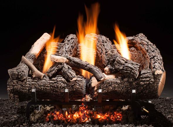 "Hargrove Heritage Char Vent-Free Log Set 24"" Millivolt NG Remote Ready ETHC24N2C"
