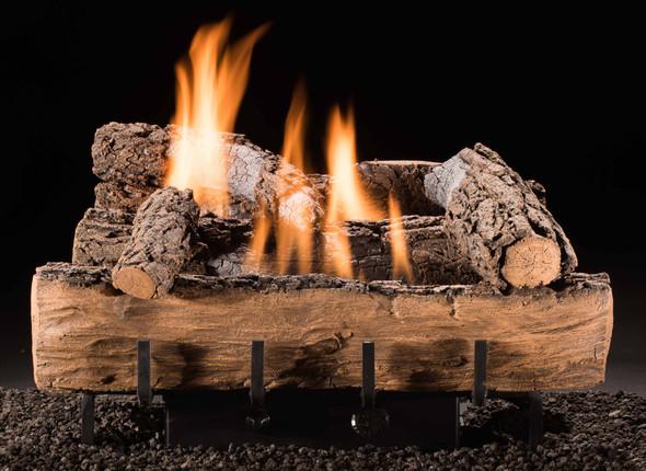"Hargrove Weathered Oak Vent-Free Log Set 24"" Millivolt Remote Ready LP VFWR24P2C"