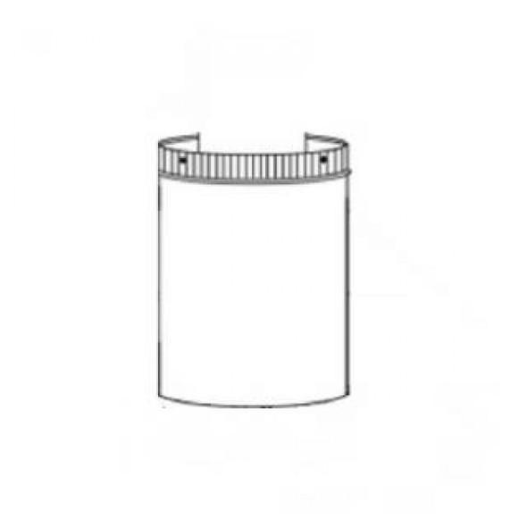 """vent pipe shield (3"""" x 5"""") W585-0328"""