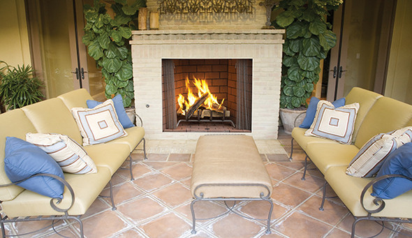 "50"" Outdoor Wood Burning  Fireplace, Refractory Panels WRE4550"