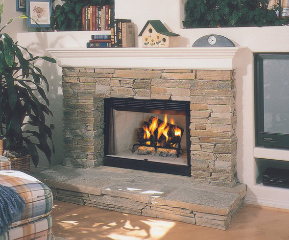 "WRT2042WS  42""  Radiant Wood Burning Fireplace W/ White Stacked Liner"