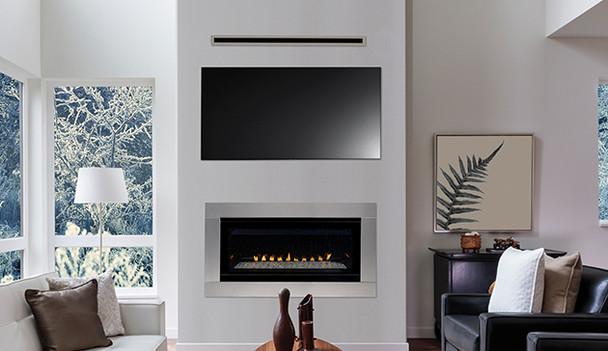 "Superior 45"" Linear Vent Free, Fireplace Lights, Elec Ignition Natural Gas VRL3045ZEN"