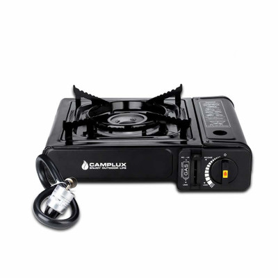 Camplux Dual Fuel (LP & Butane) Portable Camping Gas Stove, Single Burner Propane Stove with Carry Case