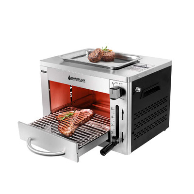 Camplux Propane Infrared Steak Grill,1600℉ Fast Efficient Heating Outdoor Portable Gas Grill with Vertical Cooking