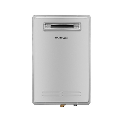 Camplux Pro Residential Outdoor Tankless Water Heater 5.28 GPM High Efficiency On-Demand Propane Water Heater, Grey