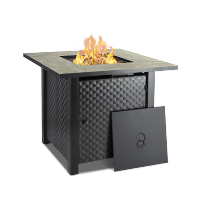 fire pit table,tabletop firebowl,fire table,outdoor,gas fire pit table,striped steel fire pit table,camplux