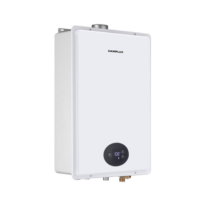 Tankless Natural Gas Water Heater, Camplux 6.86 GPM Gas Tankless Water Heater, On Demand Water Heater for Whole Home,Indoor, White