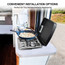 Camplux Built-in Propane RV Gas Cooktop Stainless Steel Stove with 2 Burner Cover Included