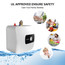 Camplux Pro ME40B Mini Tank Electric Water Heater Under Counter Water Heater 4 Gallon with Cord Plug 1.44kW at 120 Volts