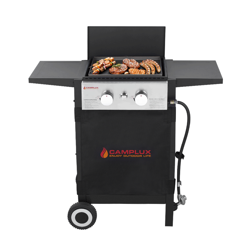 Camplux Small Flat Top Griddle, 22,000 BTU Gas Griddle Grill