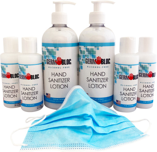 Family Pack - Alcohol Free Hand Sanitizer Lotion w/ NLT95 Masks