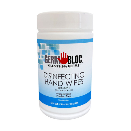 GermBloc Hand Sanitizer Wipes (80 Ct.)