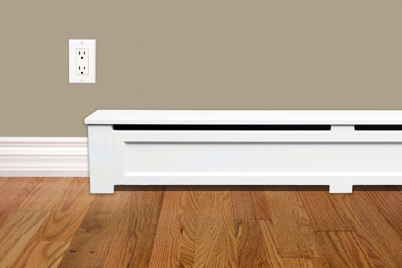 Shaker Style 4 Ft Wood Baseboard Cover Vent And Cover