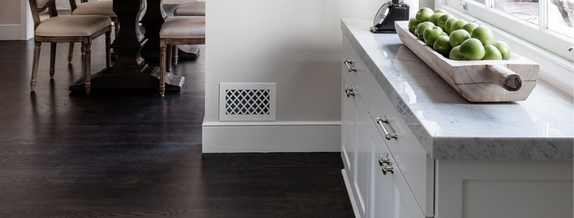 Kitchen Cabinets Up Against Baseboard Heatr on