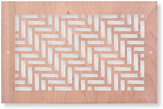 24 x 6 Twisted Wood Vent Cover