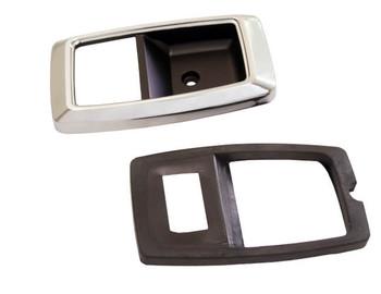1979-1993 Ford Mustang Interior Door Bezels Chrome Pair