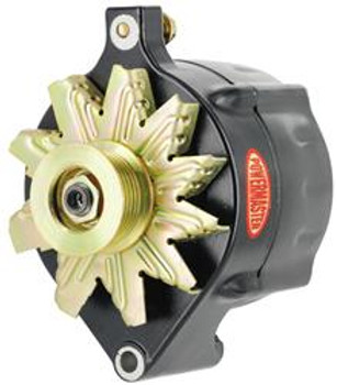 Powermaster Alternator 140 Amp Black. Fits 86-93 Mustang 5.0L, 8-57140
