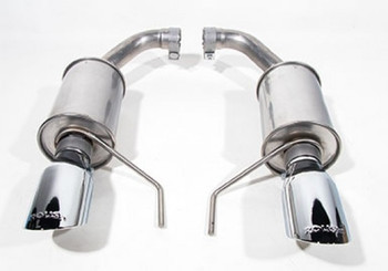 421837 2015-2020 Mustang 3.7L V6 and 2.3L Ecoboost ROUSH Exhaust Kit - Round Tip (304SS)
