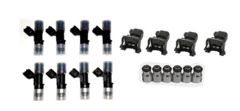 Anderson 56lb Fuel Injector Kit with Height Adapters and EV1 to USCAR Connectors