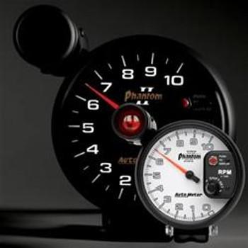 "Auto Meter 5"" Tachometer, Phanton II, 10,000 rpm, Shift-Lite, 7599"