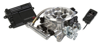 Holley Terminator™ EFI 4bbl Throttle Body Fuel Injection System V8 4 bbl 950 cfm Range 250 To 600 HP, Tumble Polished, 550-405