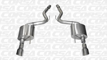 "Corsa 14326 3"" Axle Back Exhaust w/4.5"" Polished Tips *Sport* For 2015 - 2016 Mustang GT"