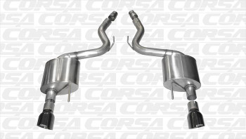 """Corsa 14326BLK 3"""" Axle Back Exhaust w/4.5"""" BLACK Tips *Sport* For 2015 - 2017 Mustang GT"""