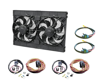 SPAL High Performance Dual Electric Fan Kit 3168 CFM