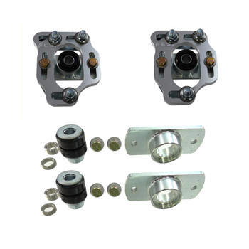 2014-79-06 UPR UPR 79-89 Mustang Billet Caster Camber Plates With Urethane Bushings