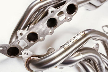"""Krona Performance 2015 - 2017 Mustang GT 1 7/8"""" Long Tube Header Kit With 3"""" to 3"""" Off Road Mid-Pipe, KP-027/KP-030"""