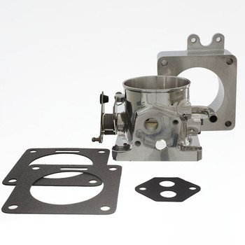 F75KS Accufab 75mm Throttle Body with Solid Blank Spacer For 1986-1993 Mustang