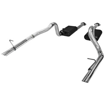 "817213 Flowmaster 2.5"" American Thunder Cat-Back Exhaust System 86-93 LX 409 Stainless"